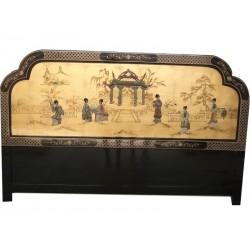 Tête de lit laquée chinoise 183x122