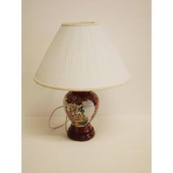 Lampe chinoise de chevet H:43cm