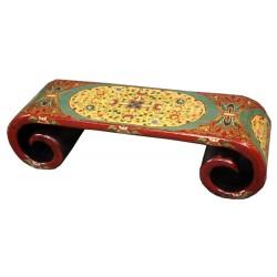 Table tibétaine à rouleau L126 x P38 x H34 cm