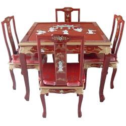 Table salle à manger avec 4 chaises 100x100x78