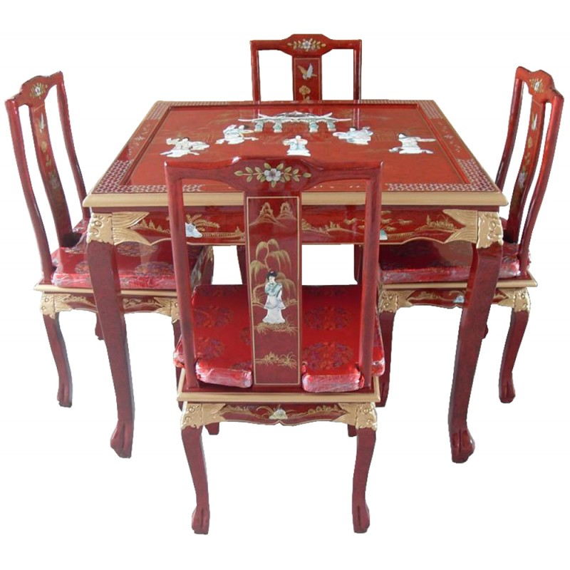 table de salle manger laqu e chinoise. Black Bedroom Furniture Sets. Home Design Ideas