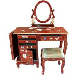 Coiffeuse+tabouret+miroir 100x41x76