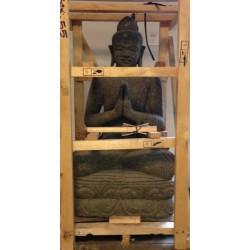 Bouddha chinois en pierreH110cm