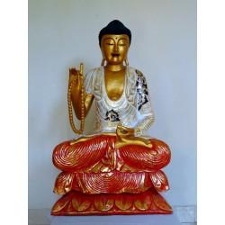 Bouddha or et blanc H80