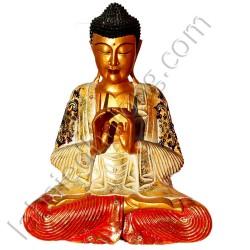 Sculpture de Bouddha peint H60