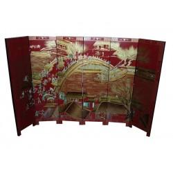 Paravent chinois à 6 panneaux 150x40