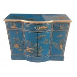Buffet chinois bleu 107x41x86