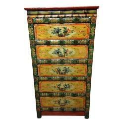 Semainier tibétaine L70xP48xH130 cm