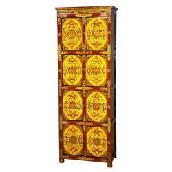 Armoire tibétaine 8 portes L70xP40xH190 cm
