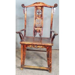 Fauteuil chinois ancien 70x54x120