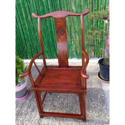 Fauteuil chinois en orme 62x47x110