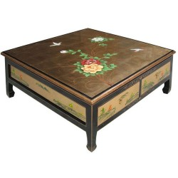 Table de salon carrée 4 tiroirs 100x100x40