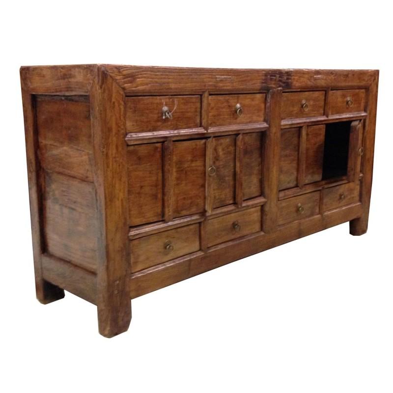 buffet 4 portes 8 tiroirs 250x60x95 cm la baie d 39 halong. Black Bedroom Furniture Sets. Home Design Ideas