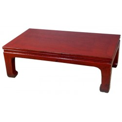 Table opium chinoise rouge 100x60x35