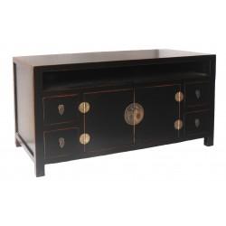 Meuble TV chinois noir 122x45x61 cm