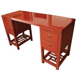 Bureau chinois rouge 160x80x80
