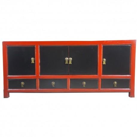 Meuble tv bicolor l154xp42xh70 cm la baie d 39 halong for Meuble tv 70