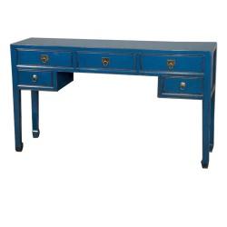 Console bureau bleue 154x40x88