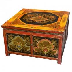 Table de salon tibétaine L70xP70xH48 cm