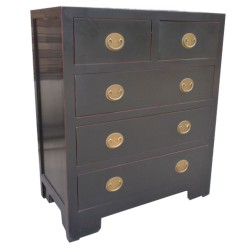 Commode chinoise noire 92x50x110