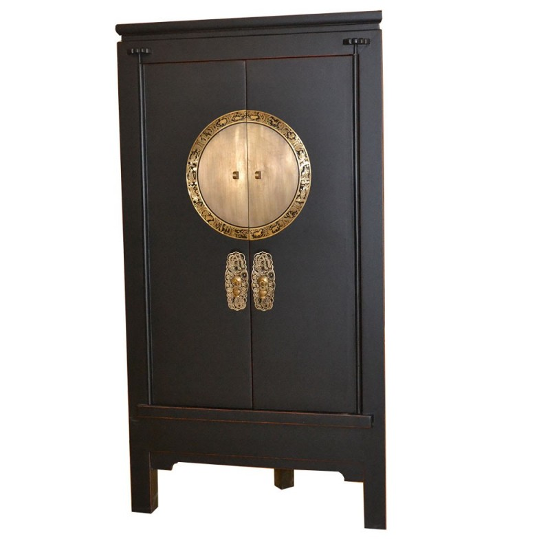 armoire d 39 angle chinoise en orme import d 39 asie. Black Bedroom Furniture Sets. Home Design Ideas