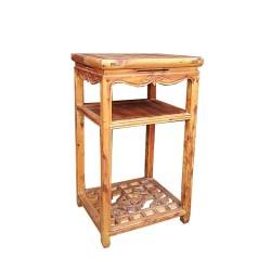 Table à thé en cyprès L38 x P43 x H77 cm