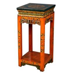 Console tibétaine orange L42xP42xH90 cm