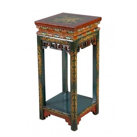 Console tibétaine bleue L42xP42xH90 cm