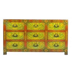 Commode tibétaine L160xP45xH88 cm