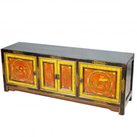 Meuble télévision tibétain L162xP43xH60 cm