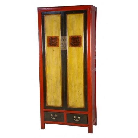 Armoire chinoise kanji bicolor 91x48x208