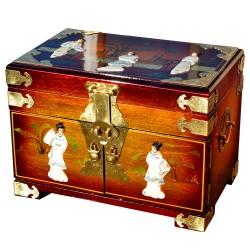 Boîte à bijoux mordoré 36x24x26