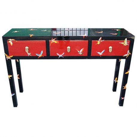 Console laquée 3 tiroirs 110x35x85