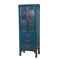 Armoire chinoise de cuisine bleue 62x45x170