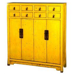 Buffet chinois jaune120x35x135 cm