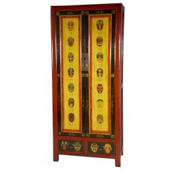 Armoire chinoise kanjis L91xP48xH208 cm