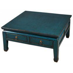 Table de salon chinoise bleue