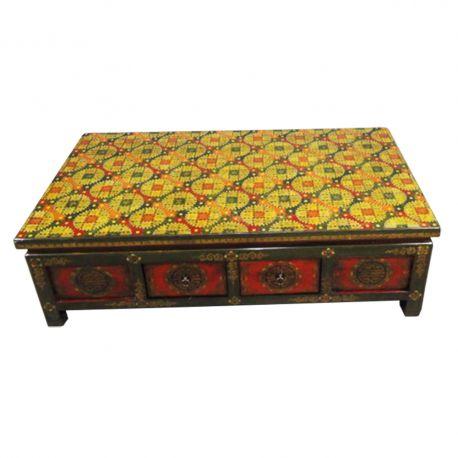 Table tibétaine rectangulaire