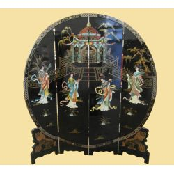Paravent chinois rond 183x40