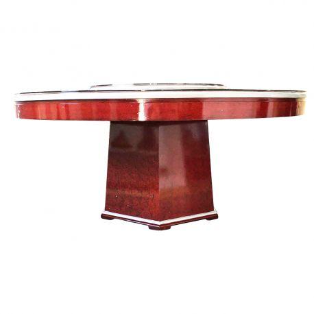 Table de salle à manger à plateau tournant 183xH76cm