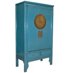 Armoire de mariage bleue 100x48x180
