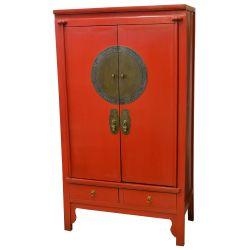 Armoire de mariage rouge 100x48x180