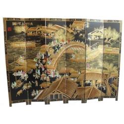 Paravent chinois 183x40x6 panneaux