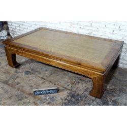 Table opium plateau rotin 160x96x45