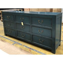 Commode chinoise bleue 190x46x88
