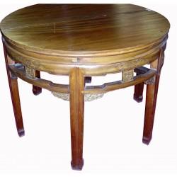 Table ronde - Deux demi consoles 120x120x91