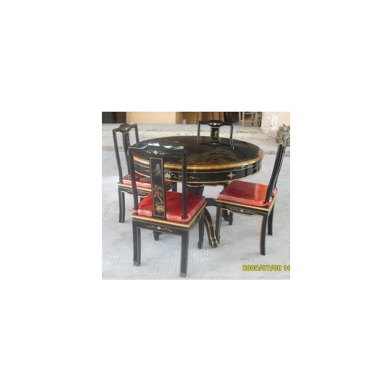 Table salle manger ronde avec 4 chaises for Salle a manger avec table ronde