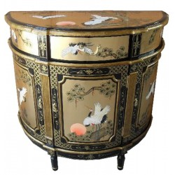 Commode chinoise demi lune 93x46x90
