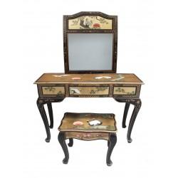 Coiffeuse+tabouret+miroir 92x40x80