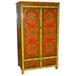 Armoire tibétaine Lhatsé L90xP50xH175 cm